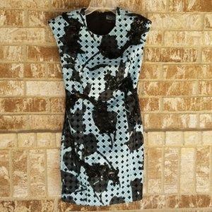 Sachin & Babi Noir Sky Blue Black Dress Size 0